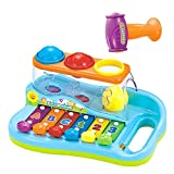 Musikinstrument Xylophon Spielzeug Klavier für Babys und Kinder, Keyboard Musikspielzeug Aktivität Klavier und Trommel als Geschenk für Babys und Kleinkinder
