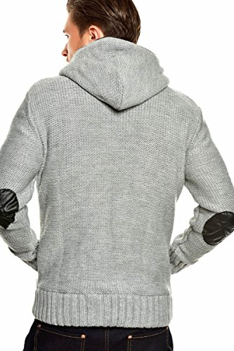 Tazzio Strickjacke mit Kapuze Pullover 14-407 Grau