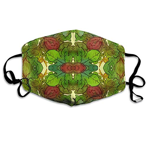 Masken,Masken für Erwachsene,Fig Tree Washable and Reusable Cleaning Mask,For Allergens,Exhaust Gas,Running,Cycling,Outdoor Activities