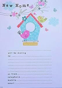 Simon Elvin New Home - Change Of Address Pad & Envelopes - 20 Sheets