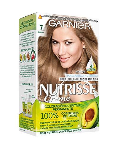 Garnier Nutrisse Creme coloración permanente con mascarilla nutritiva de cuatro aceites - Rubio 7