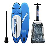 SolarNovo Aufblasbare Stand up Board 305 x 75 x 15cm, mit Handpumpe, Set Paddle Sup-Board, Surfboard