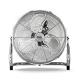 ARGO Speedy Ventilatore High-Speed in Alluminio, Diametro 40 cm, 3 velocit?, Antiscivolo, Inclinazione Regolabile, Argento