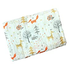 Baby Swaddle Blanket, Baywell Baumwolle Baby Gaze Wrap Decke Pucktücher Niedlich Kostüm Fotoshooting (A8(Fuchs))