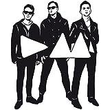 Wadeco Depeche Mode Wandtattoo Wandsticker Wandaufkleber 35 Farben verschiedene Größen, 136cm x 168cm, schwarz