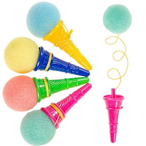 JuniorToys Ice Cream Party-Shooter - Mitgebsel Kindergeburtstag - die lustigen Eiskugel-Abschießer (24er Pack)