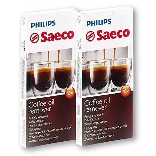 2x 10 Tabletten Philips Saeco RI9125/24 Kaffeefettlöser Coffee Clean