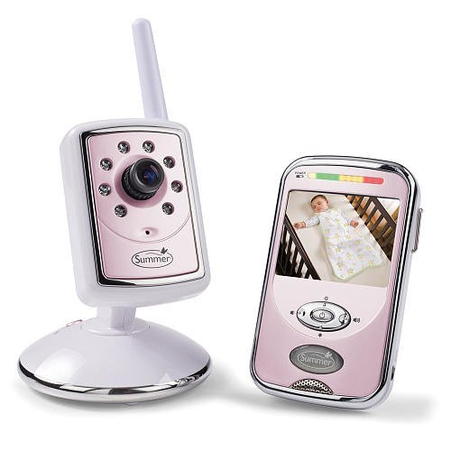 Summer Infant Slim & Secure Handheld monitor de vídeo de 2,4GHz de color rosa Bañador para bebé