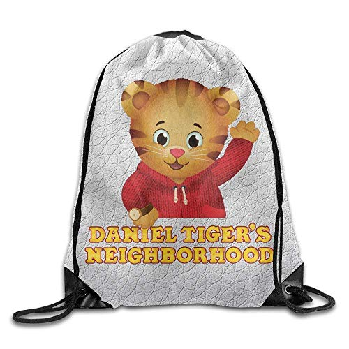 GONIESA Fashion Unisex Gym Bag Daniel Tigers Neighborhood for 2016 Sack Bag Drawstring Backpack Sport Bag (Halloween Daniel Tiger)