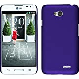 PhoneNatic Funda Rígida para LG L70 - goma púrpura - Cover Cubierta + protector de pantalla