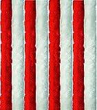 Arsvita Flausch-Vorhang, viele Variationen, Größe: 56x185 cm, Farbe: rot-weiß