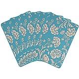 Saral Home Cotton Decorative Flower Design Place Mat Set Of 6 Pices -34x45 Cm