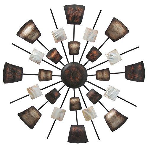 Boltze Wand Dekoration Bild Deko Kunst Schlaf Gäste Zimmer Behang braun beige rund 4679400