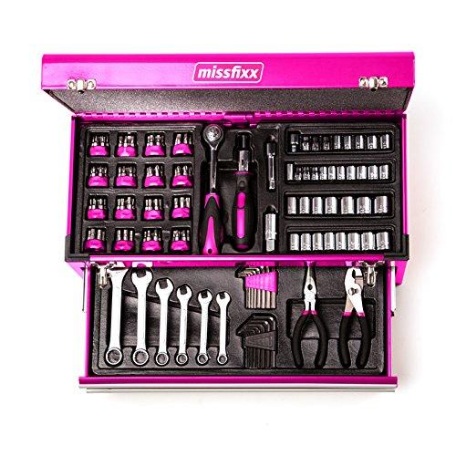 Preisvergleich Produktbild missfixx - Pinker Werkzeugkasten 175-Teile