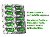 50Evion capsules de vitamine E pour lumineux, visage, Strong Cheveux, acné, ongles, peau éclatante 400mg