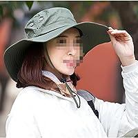 WYM Sombrero Anti-Sai Sombrero Femenino De La Cubierta Del Verano Del Sombrero Anti-ULTRAVIOLETA Del Sombrero Grande Sombrero Del Sol Del Verano Al Aire Libre Que Completa Un Ciclo La Visera,Green