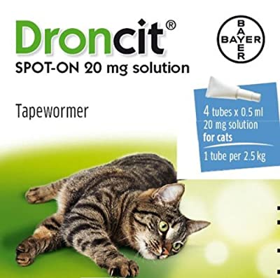 Bayer - Droncit Spot-On Cat Tapeworm 0.5 Ml x 4 Tubes from Smiths Health Ltd