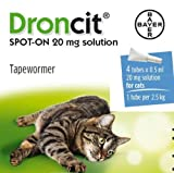 Bayer - Droncit Spot-On Cat Tapeworm 0.5 Ml x 4 Tubes