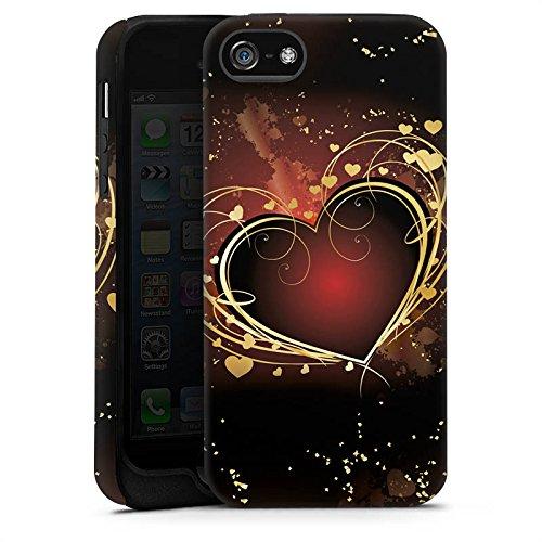 Apple iPhone X Silikon Hülle Case Schutzhülle Verliebt Herz Liebe Tough Case matt