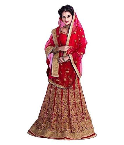 100 % Original product Lehnga Choli (OmSai fashion Net Embroidery A-Line Unstiched Lehnga Choli Free Size)