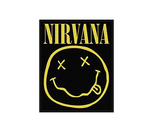 Nirvana Aufnäher - Nirvana Smiley - Nirvana Patch - (SP2793) Gewebt & Lizenziert !! (Gewebt Fallen Shirt)