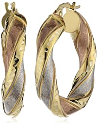 Celesta Damen-Ohrstecker 375 Gelbgold tricolor 23 mm 239310005