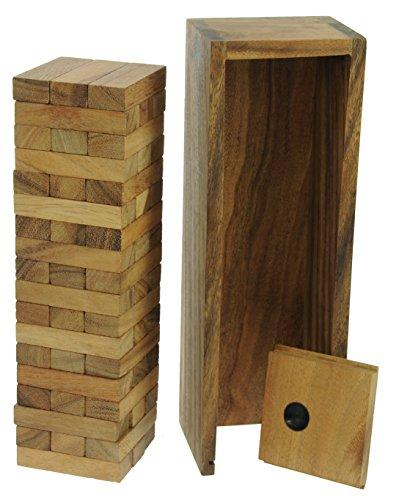 Namesakes Tower Stack - Jenga - Jeux de société en Bois pour Enfants, Adultes et Amis Qui boivent! Taille Large: 29 x 9.5 x 8.5cm