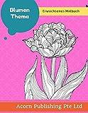 Blumen Thema: Erwachsenes Malbuch