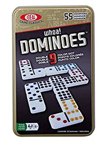 Ideal Whoa. Double 9Farbe Dot Dominosteine