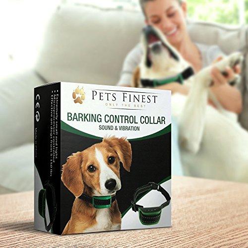 Anti-Bell Hundehalsband von Pets Finest, Erziehungshalsband mit Ton- & Vibrationsfunktion - 7