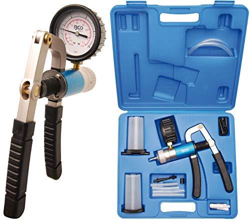 BGS 8067 | Vakuumpistolen-Satz mit Saug- und Druckfunktion | Bremsenentlüfter | Bremsentlüftungsgerät | Vakkumtester | im Koffer