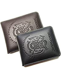 200e413b2 poland Men s PU Leather Mini and Small Wallet Combo (Black and Brown) - Pack