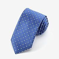 YUBIN Corbata Moda para Hombres Punto Reducción De La Edad Comercio Salvaje Teñido De Hilado Corbata Informal (Color : A)