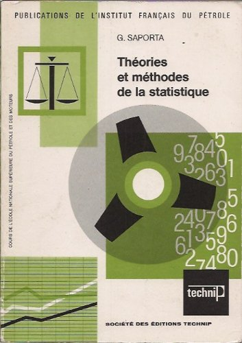 Théories et méthodes de la statistique par Gilbert Saporta
