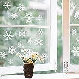 Noël Flocons Neige Stickers Blanc Vitres Decoration Noël Hiver Chrismas Décoration Réutilisable PVC Sticker pour Noël Deco Fête Nouvel An