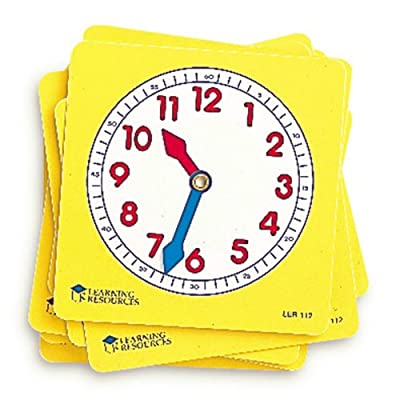 Learning Resources Pupil Clock Dials (Set of 10) by Learning Resources