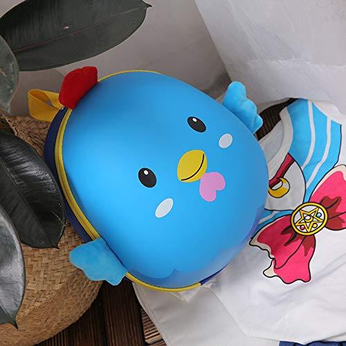 Kinder-Taschen-Packs, Eierschale Rucksack Cartoon Süße Mode 3D Küken Rucksack Kindergarten Kindertasche, Große Kapazität Tasche blau -