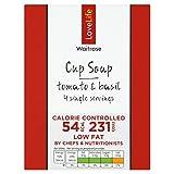 Vida del amor usted cuenta de tomate y albahaca sopa Copa Waitrose 4 x 16,5 g
