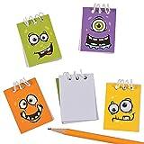 12 x Notizblock Blöcke Mitgebsel Monster Monsterparty Kindergeburtstag Geburtstag Halloween Gespenster
