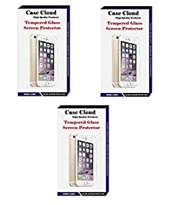 [Pack of 3] Case Cloud High Quality Screen Protector Tempered Glass for Microsoft Lumia 435