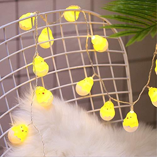 Ankamal Elec 1PC Pasqua LED String Lights, String Lights a Batteria Chick Shaped String Lights, per Giardino, casa, Patio, Matrimonio, Decorazioni pasquali (3m 20LED) - 5