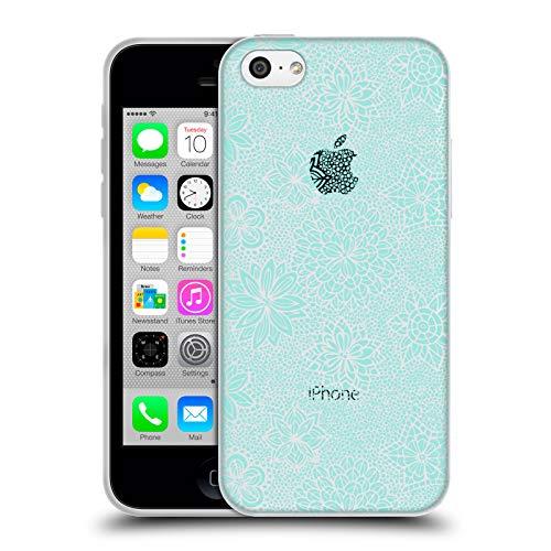 Official Julia Grifol Lovely Mosaic Garden Floral Soft Gel Case for iPhone 5c