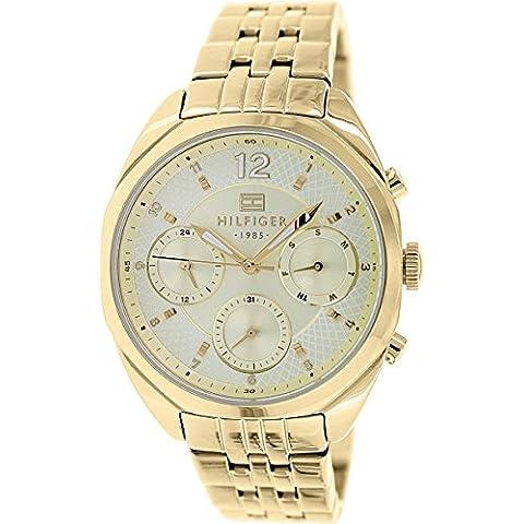 Tommy Hilfiger 1781486 - Reloj para mujeres, correa de acero inoxidable color dorado