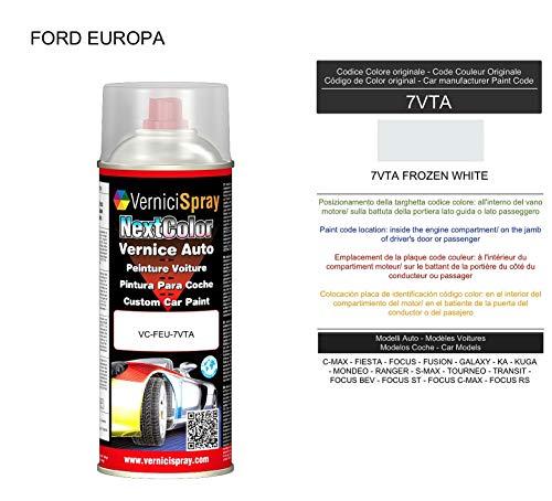 Vernice Ritocco 7VTA FROZEN WHITE per verniciatura carrozzeria in Bomboletta Spray 400 ml VerniciSpray