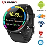 LEMFO LEMX Smartwatch für Android 7.1 4G LTE 2,03 Zoll Display, MT6739, 1