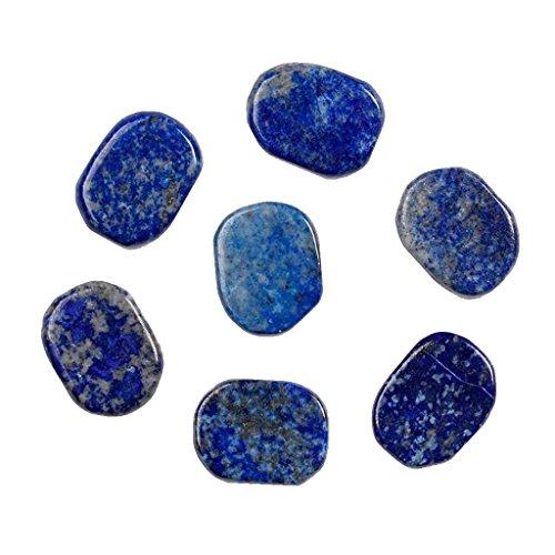 MagiDeal 7pcs Heilkristall,Reiki-Kristall,Reiki Stein,Kristall,Steine Lapislazuli Reiki Energiekristall Palm Steine