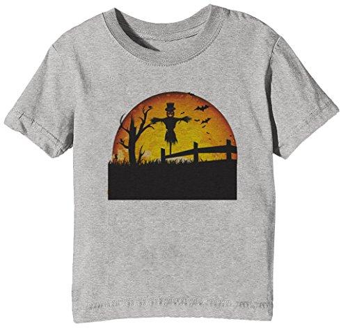Halloween Kinder Unisex Jungen Mädchen T-Shirt Rundhals Grau Kurzarm Größe L Kids Boys Girls Grey Large Size - Halloween Mädchen Kleines Beängstigend