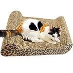 FOCUSPET Comfort Cat Kitten Scratch Box Board Leopard Grain Pattern Catnip Pet Toy Play Activity 10