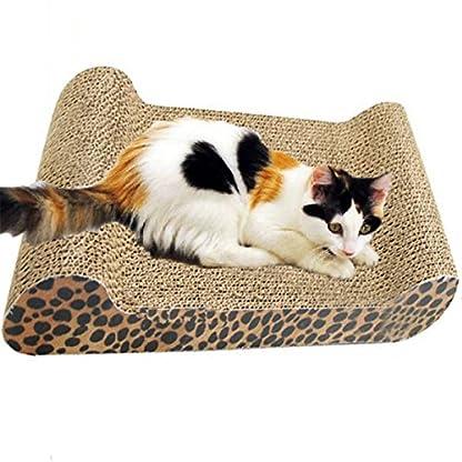 FOCUSPET Comfort Cat Kitten Scratch Box Board Leopard Grain Pattern Catnip Pet Toy Play Activity 4