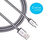 #8: dëkSël (TM) – Micro USB cable fast charging, 2 Meter / 6 feet long Universal Data Cable. A brand new Nylon Braided original tough irrefragable, Premium quality, Tangle Free, Charging speed up to 2.4Amps and High-Speed Data Sync. Compatible with almost all Android and Windows devices.